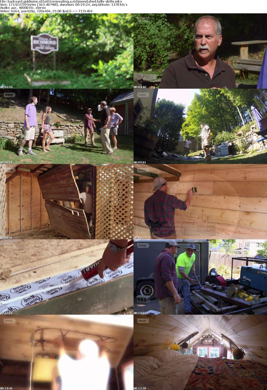 Backyard Goldmine S01E03 Renovating A Richmond Shed HDTV x264-dotTV
