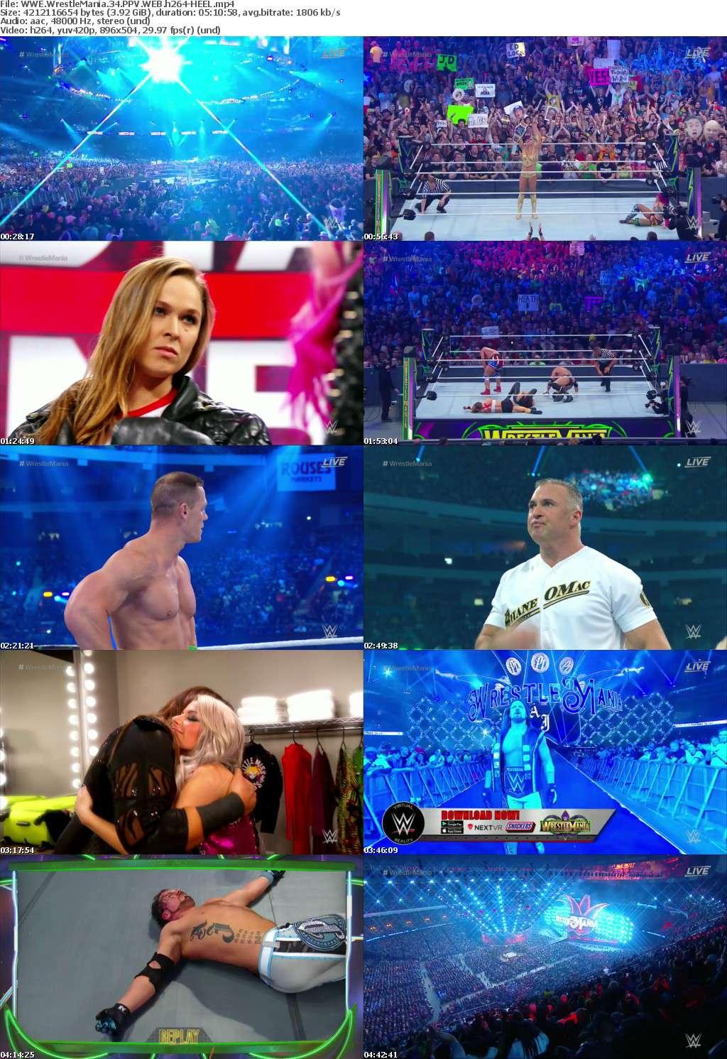 WWE Wrestlemania 34 PPV WEB H264 HEEL