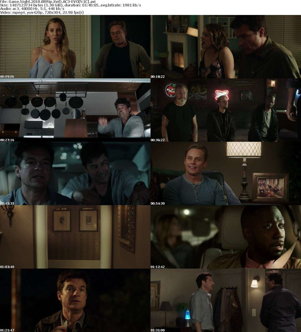 Game Night (2018) BRRip XviD AC3-EVO