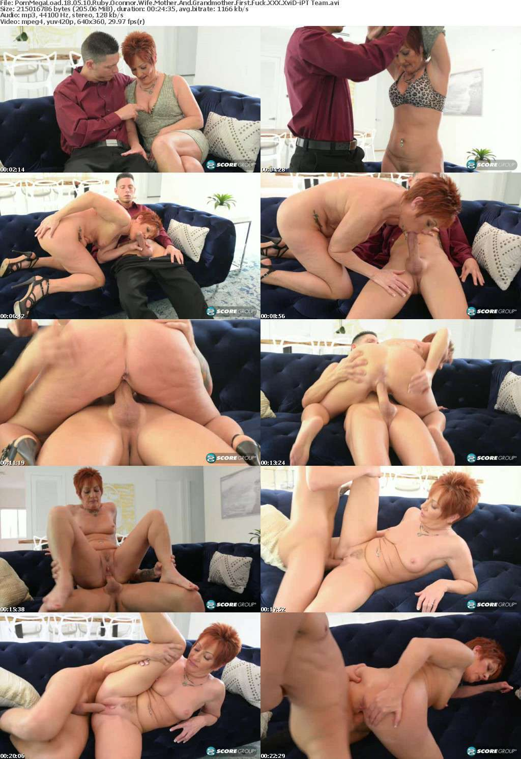 PornMegaLoad 18 05 10 Ruby Oconnor Wife Mother And Grandmother First Fuck XXX