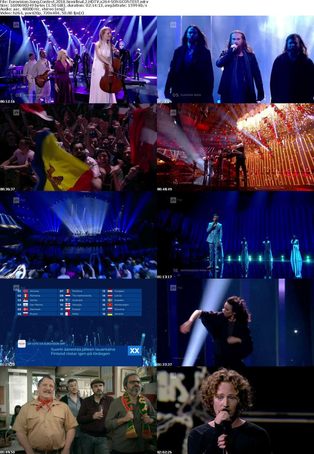 Eurovision Song Contest 2018 Semifinal 2 HDTV x264-SONGCONTEST
