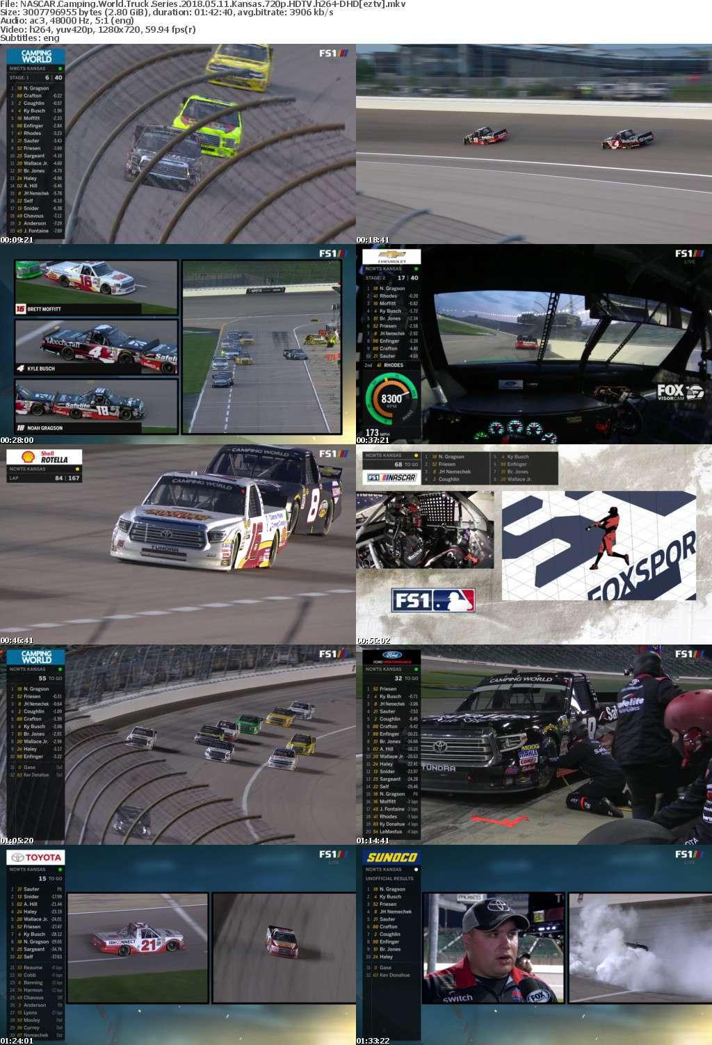 NASCAR Camping World Truck Series 2018 05 11 Kansas 720p HDTV h264-DHD