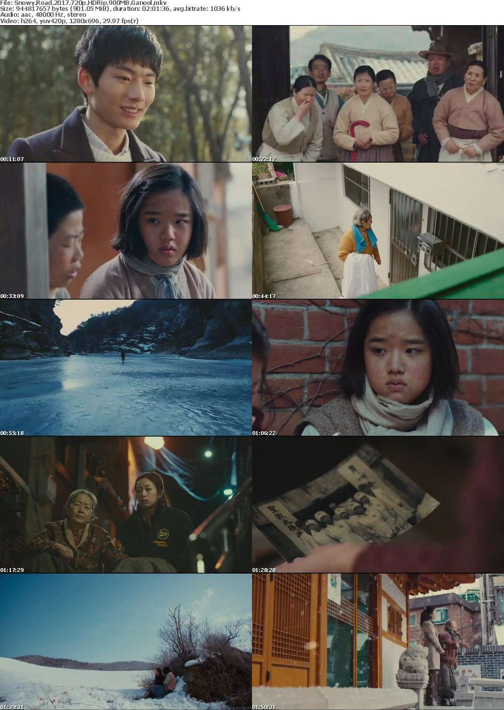 Snowy Road (2017) 720p HDRip 900MB Ganool