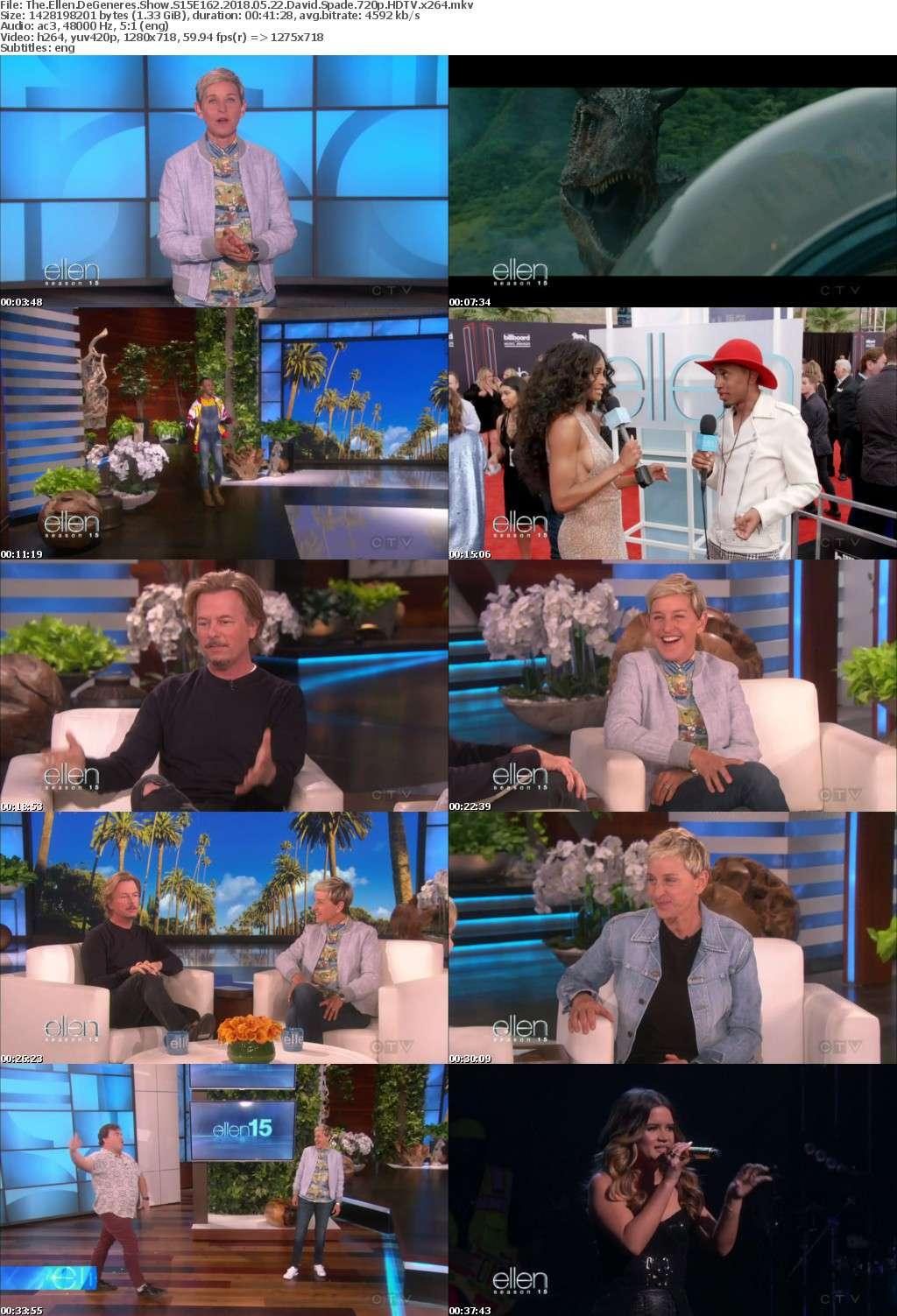 The Ellen DeGeneres Show S15E162 2018 05 22 David Spade 720p HDTV x264