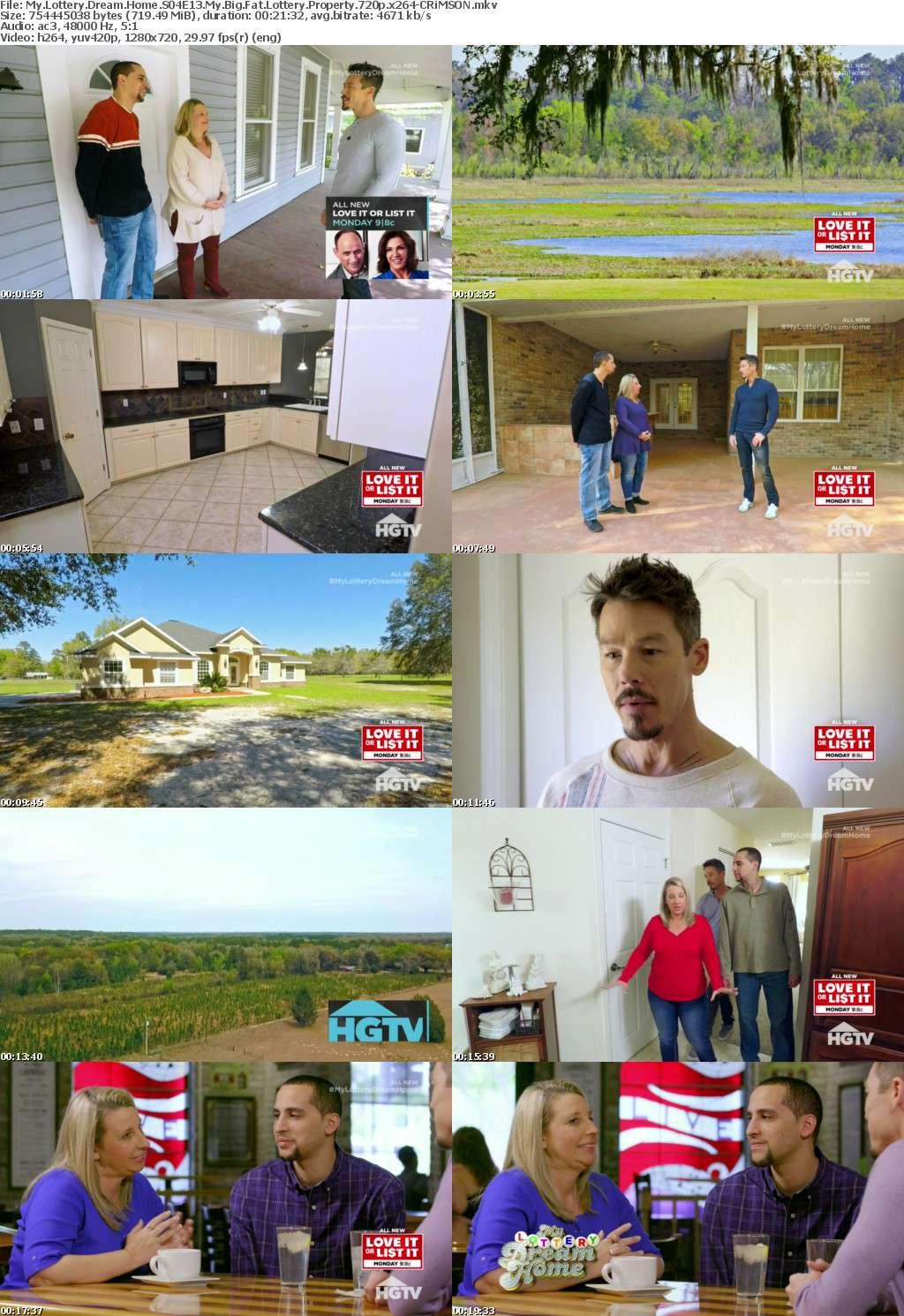 My Lottery Dream Home S04E13 My Big Fat Lottery Property 720p x264-CRiMSON