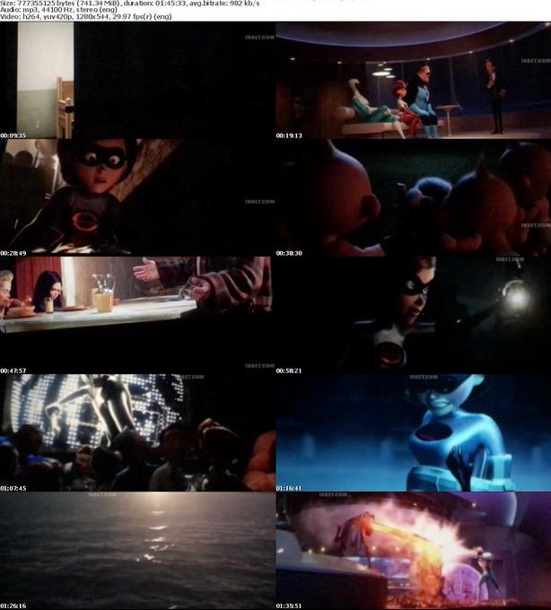 Incredibles 2 (2018) English HDCAM-Rip 720p x264 MP3 750MB-Movcr