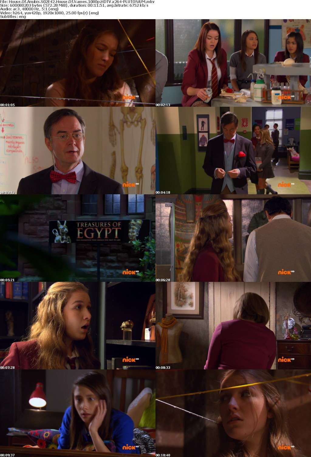 House Of Anubis S02E42 House Of Names 1080p HDTV x264-PLUTONiUM