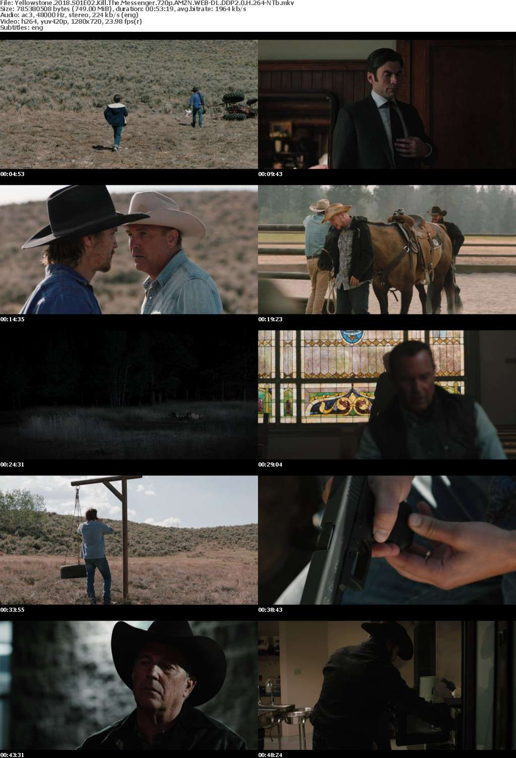 Yellowstone 2018 S01E02 Kill The Messenger 720p AMZN WEB-DL DDP2 0 H 264-NTb