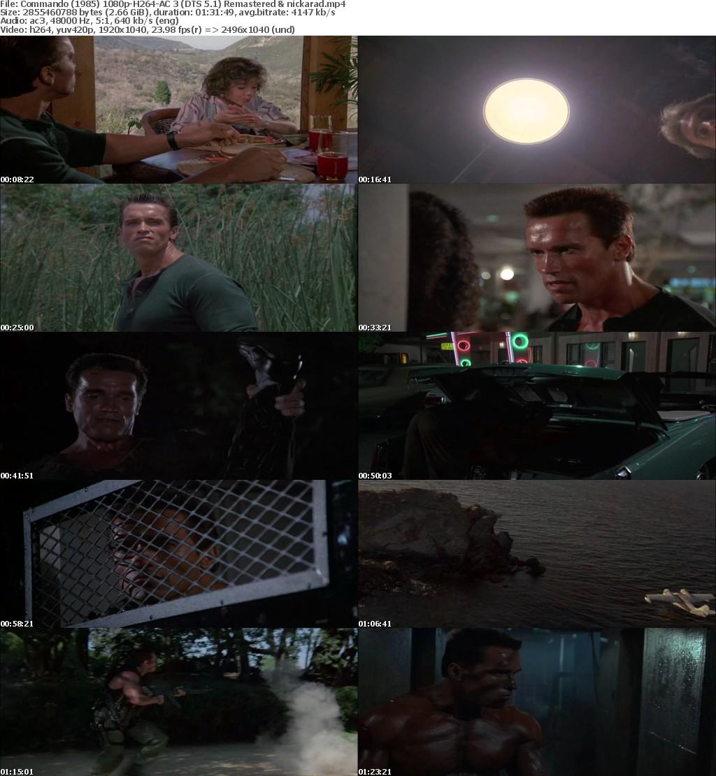 Commando (1985) 1080p BluRay H264 AC 3 (DTS 5.1) Remastered-nickarad