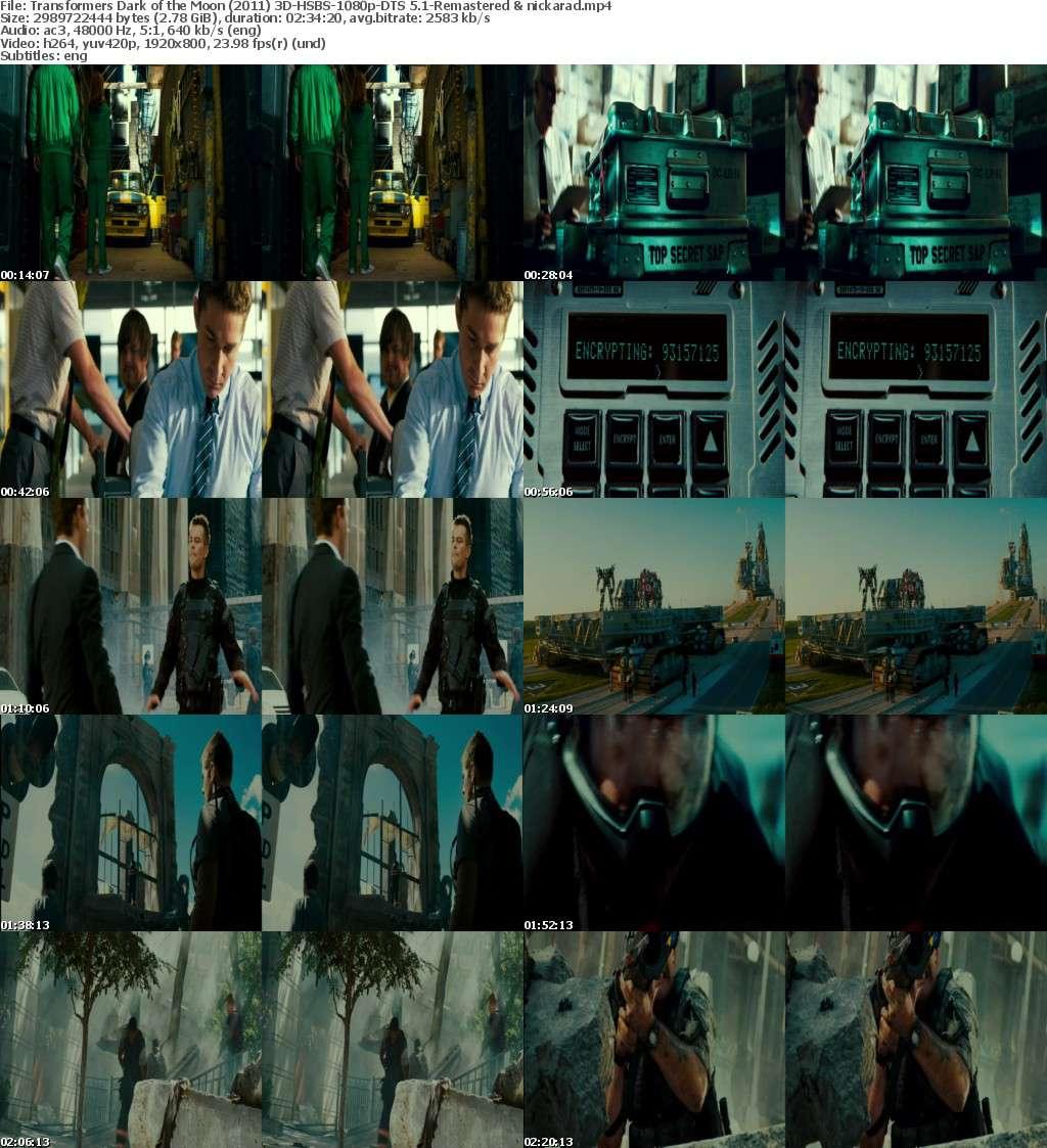 Transformers Dark of the Moon (2011) 3D HSBS 1080p BluRay AC3 Remastered-nickarad