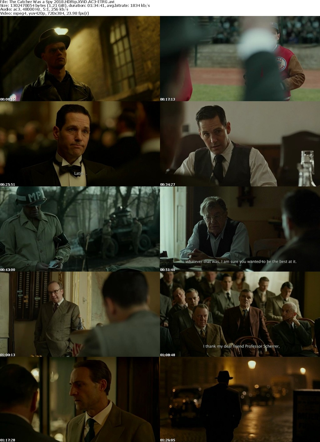 The Catcher Was a Spy (2018) HDRip XViD AC3-ETRG