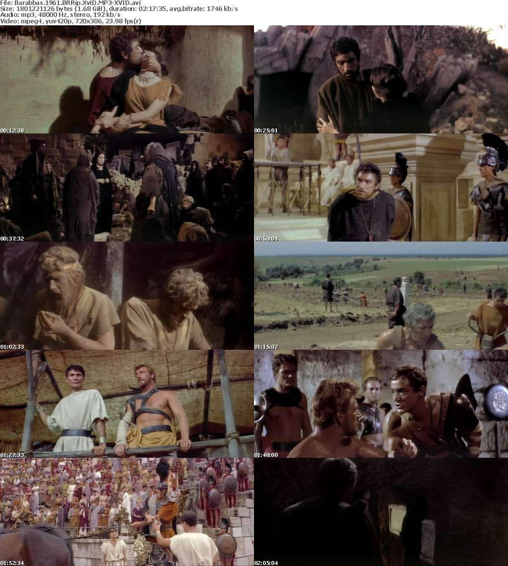Barabbas 1961 BRRip XviD MP3-XVID