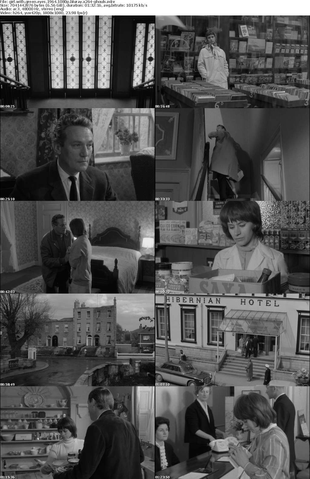 Girl with Green Eyes 1964 1080p BluRay x264-GHOULS
