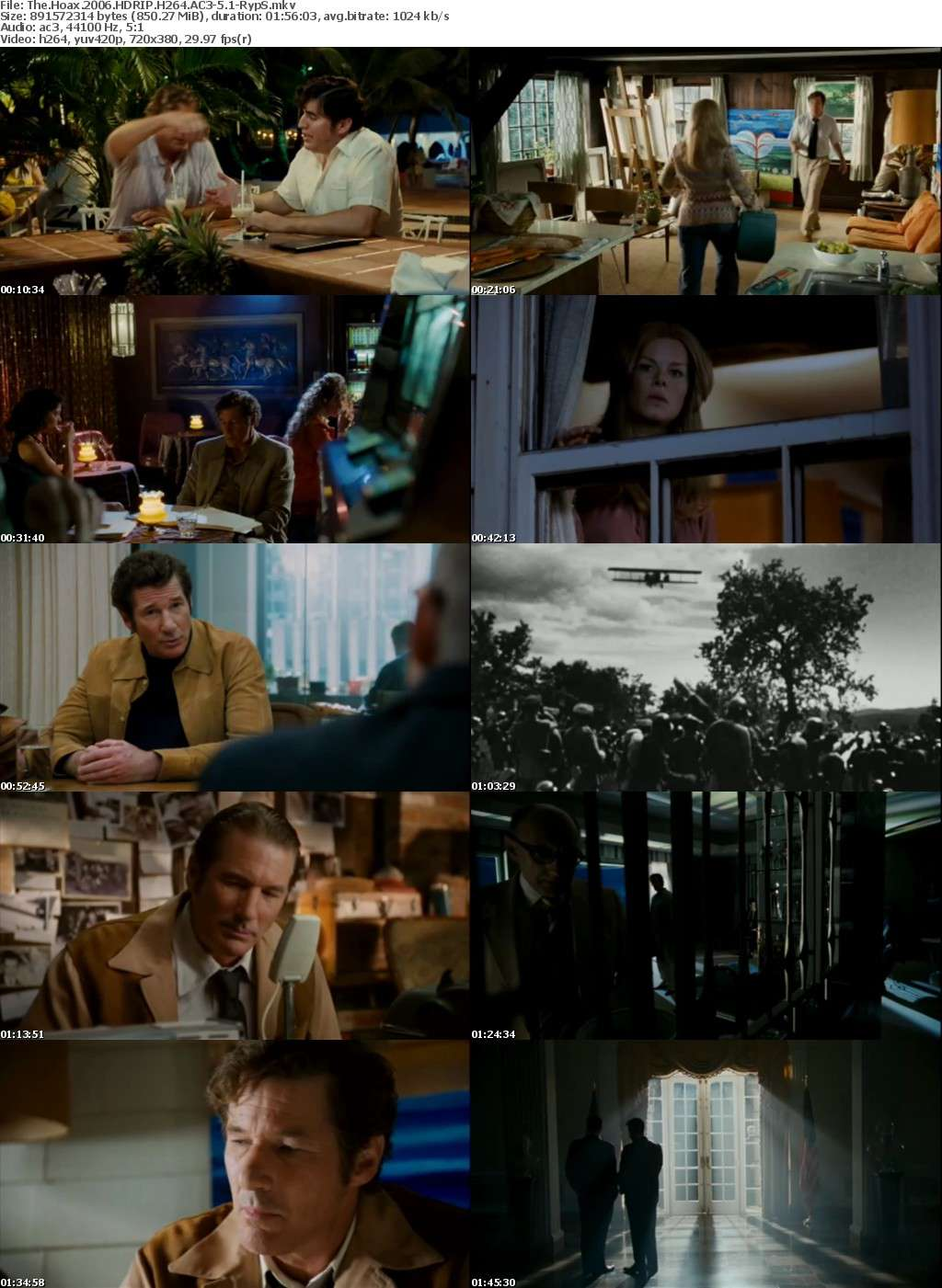 The Hoax 2006 HDRIP H264 AC3-5 1-RypS