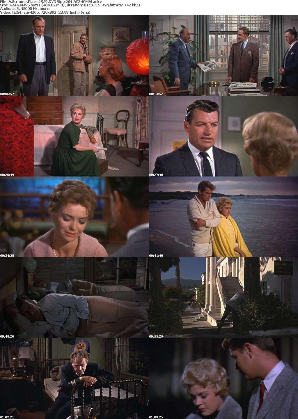 A Summer Place 1959 DVDRip x264 AC3-iCMAL