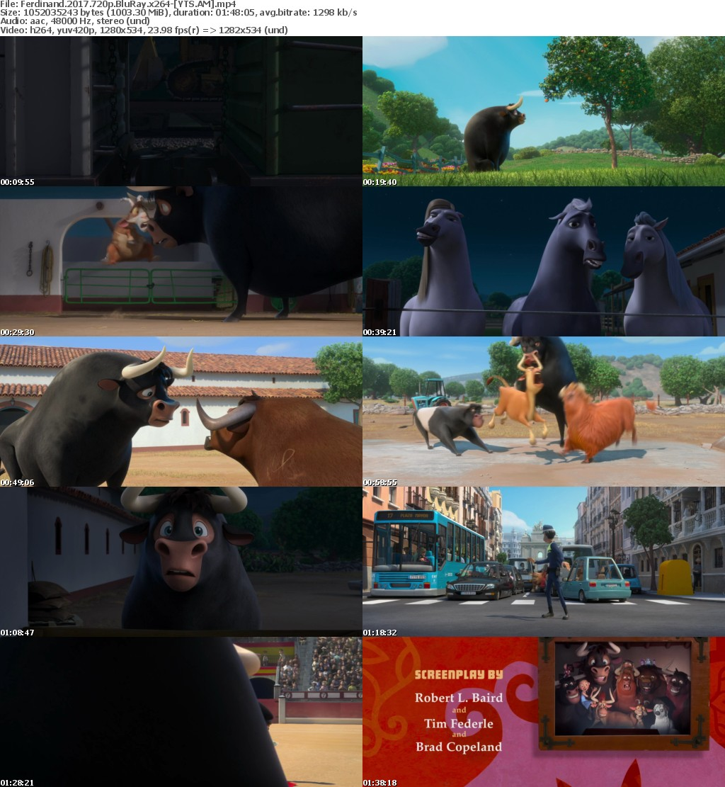 Ferdinand (2017) [BluRay] [720p] YIFY