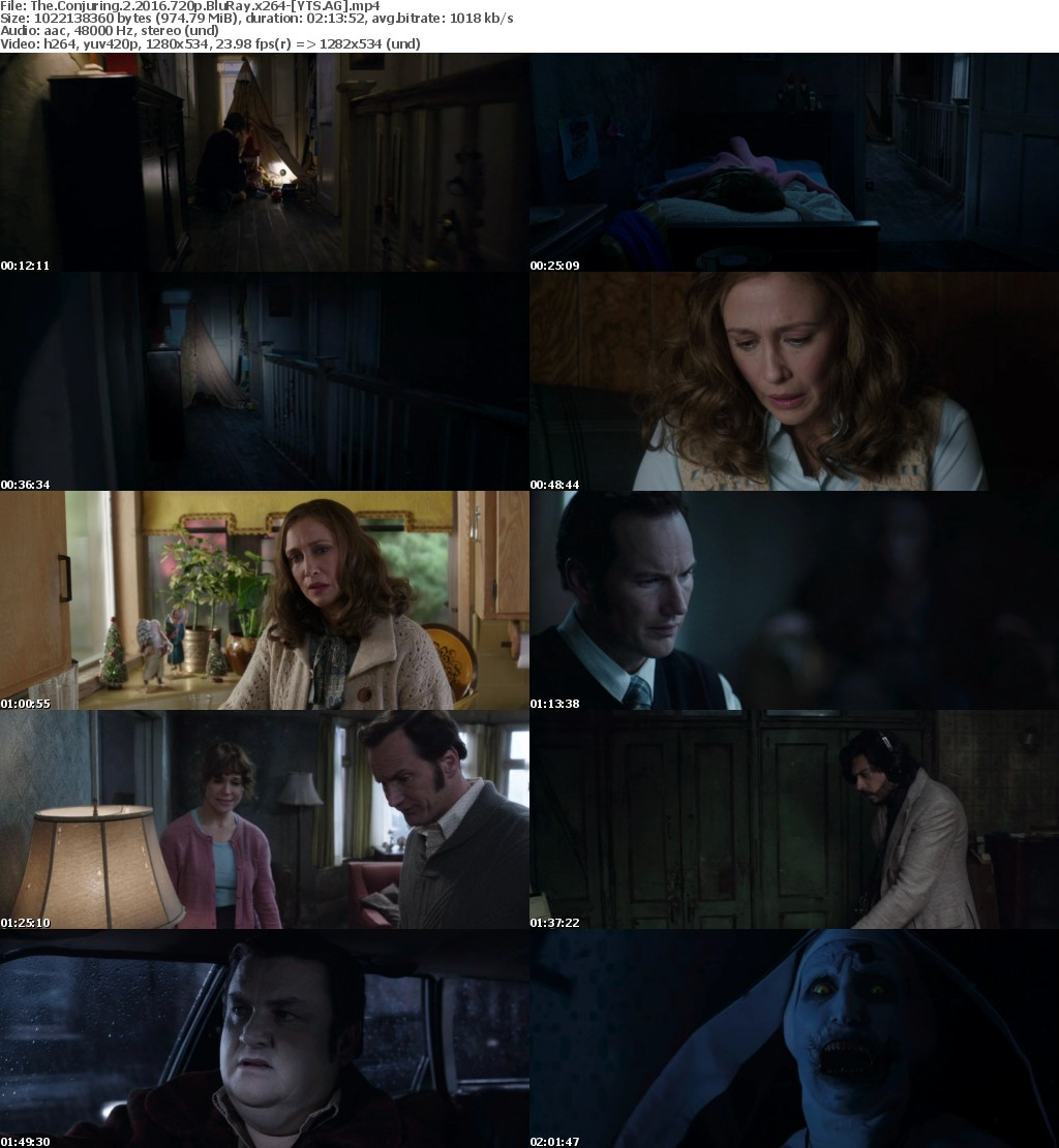 The Conjuring 2 (2016) [BluRay] [720p] YIFY