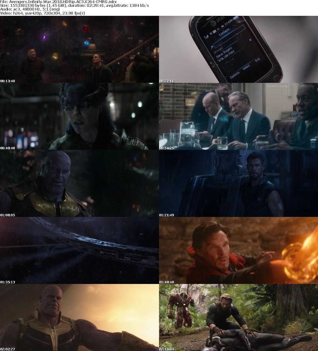 Avengers Infinity War 2018 HDRip AC3 X264-CMRG