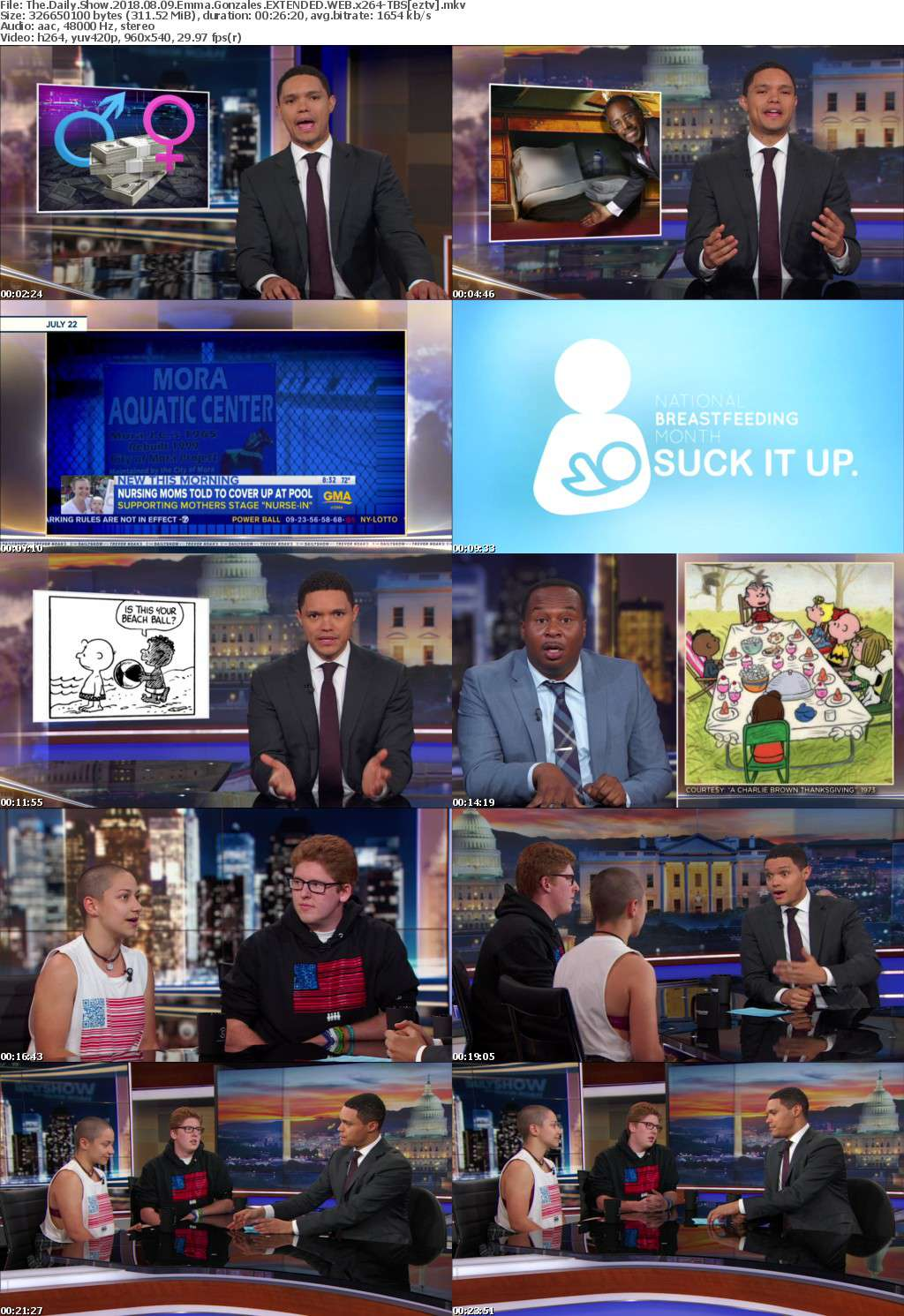 The Daily Show 2018 08 09 Emma Gonzales EXTENDED WEB x264-TBS