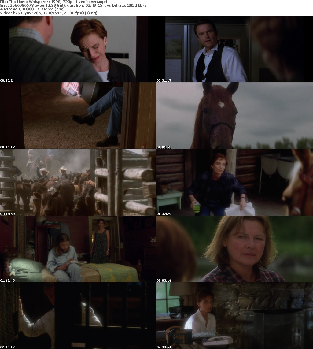 The Horse Whisperer (1998) 720p BRRip x264-fiveofseven