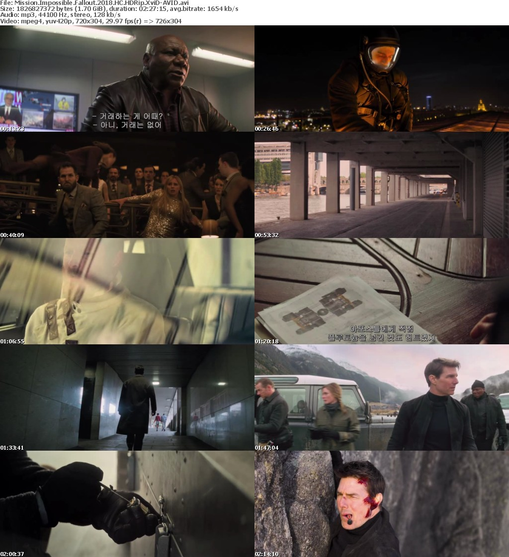 Mission Impossible Fallout (2018) HC HDRip XviD-AVID