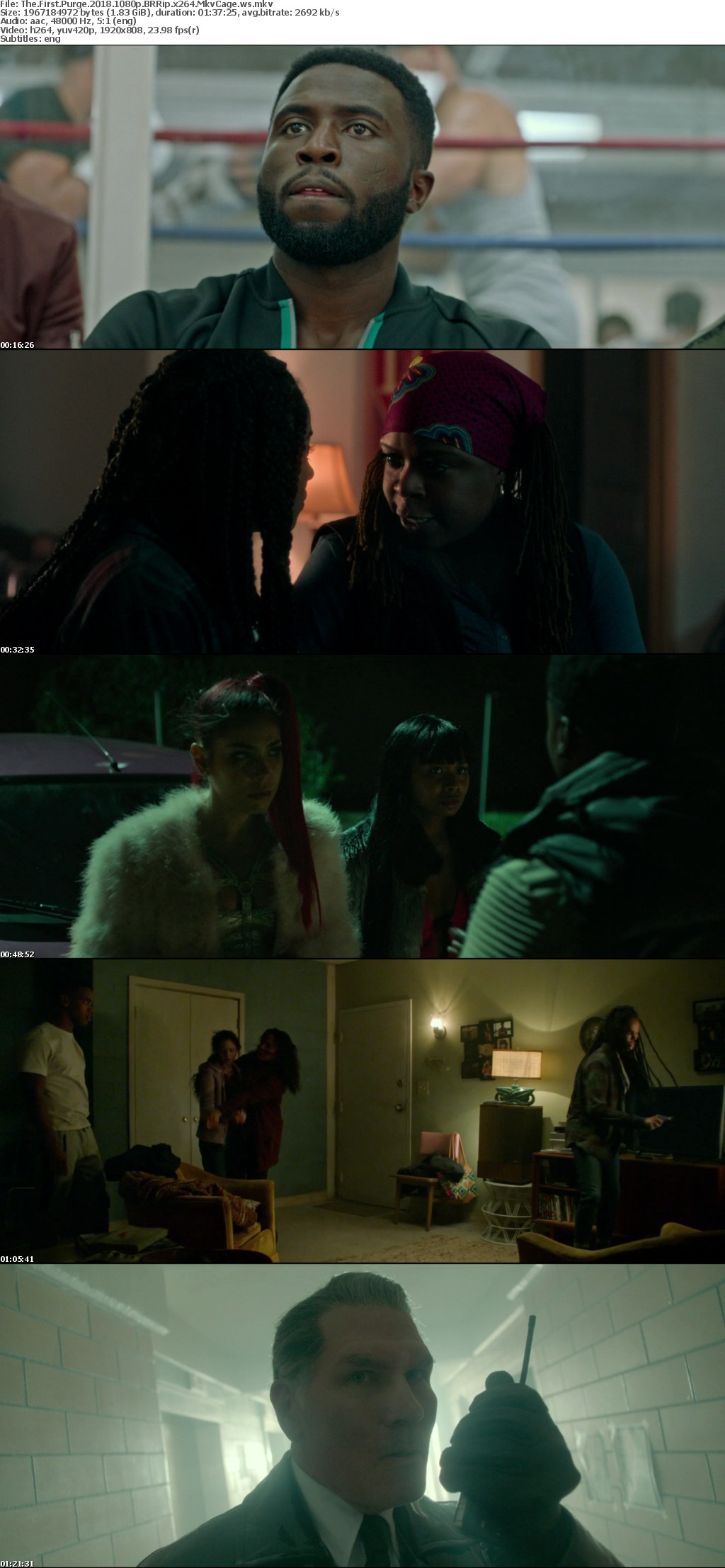 The First Purge 2018 1080p BRRip x264 MkvCage