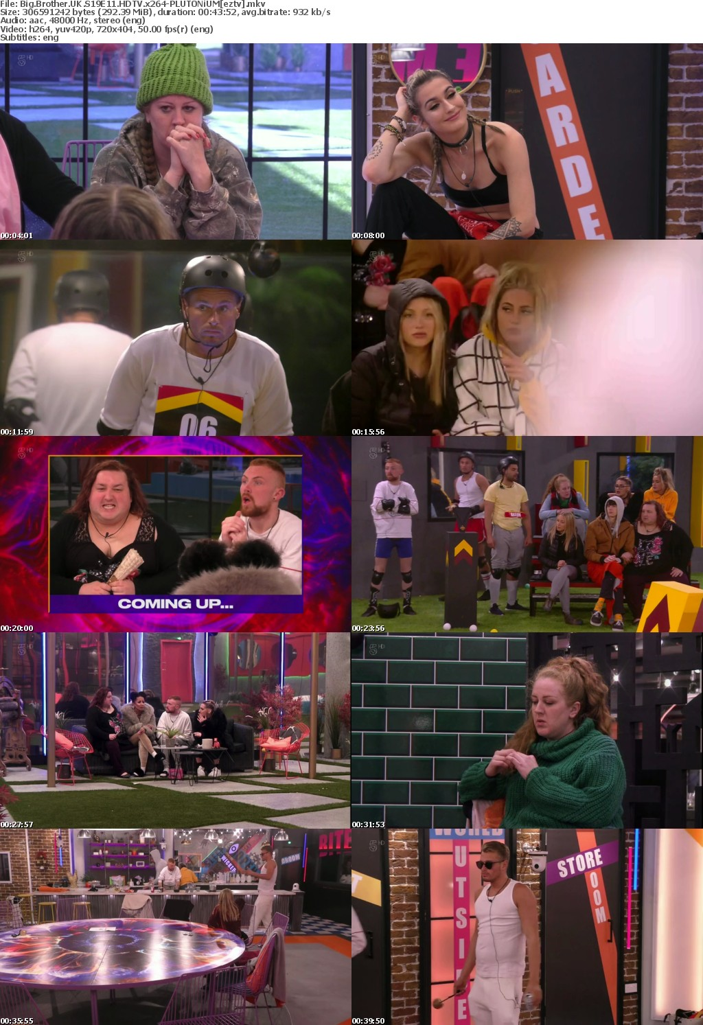 Big Brother UK S19E11 HDTV x264-PLUTONiUM