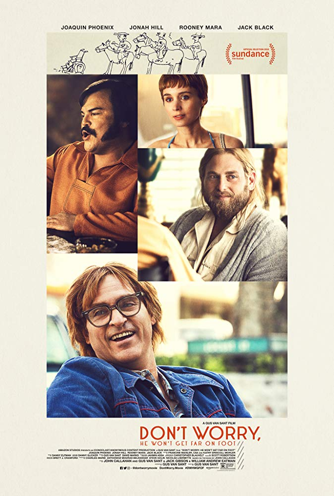 Don't Worry, He Won't Get Far on Foot (2018) 720p BluRay x264 AAC ESubs - Downloadhub