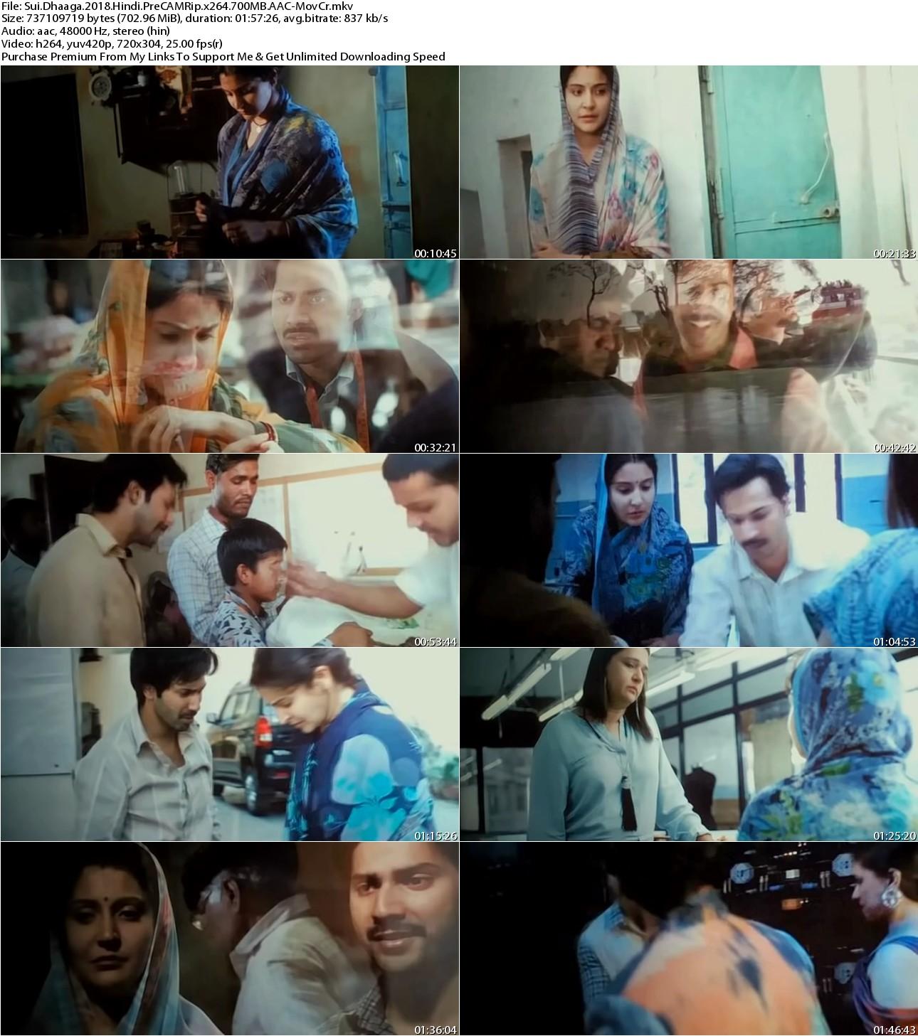 Sui Dhaaga (2018) Hindi PreCAMRip x264 700MB AAC-MovCr