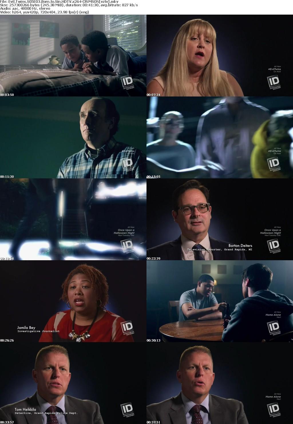 Evil Twins S05E03 Born to Sin HDTV x264-CRiMSON