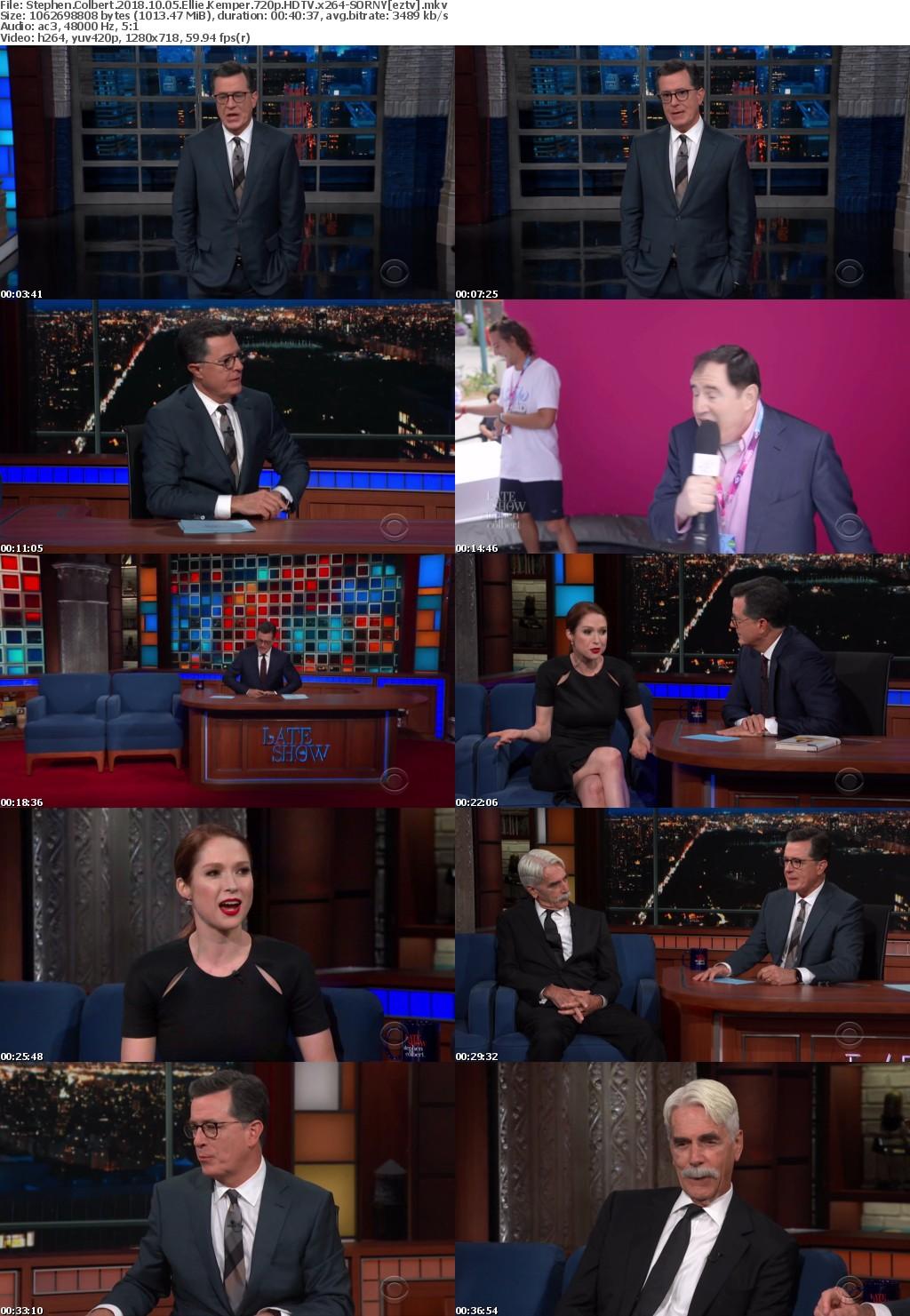 Stephen Colbert (2018) 10 05 Ellie Kemper 720p HDTV x264-SORNY