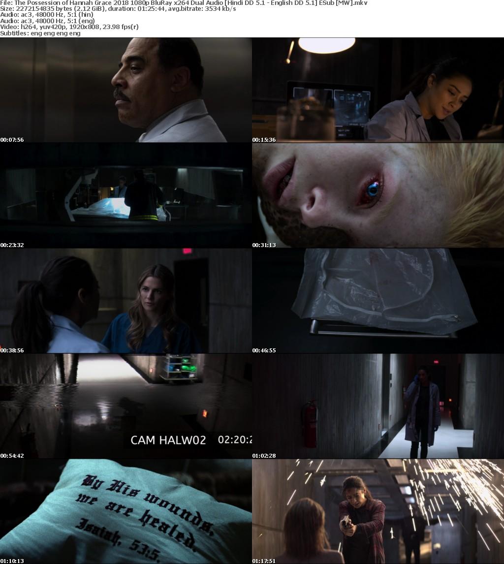 The Possession of Hannah Grace (2018) 1080p BluRay x264 Dual Audio Hindi DD 5.1 - English DD 5.1 ESub MW
