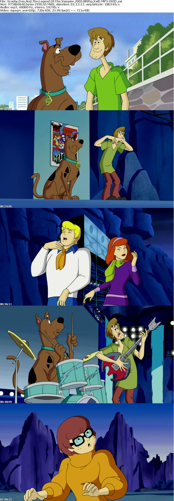 Scooby Doo And The Legend Of The Vampire 2003 BRRip XviD MP3-XVID