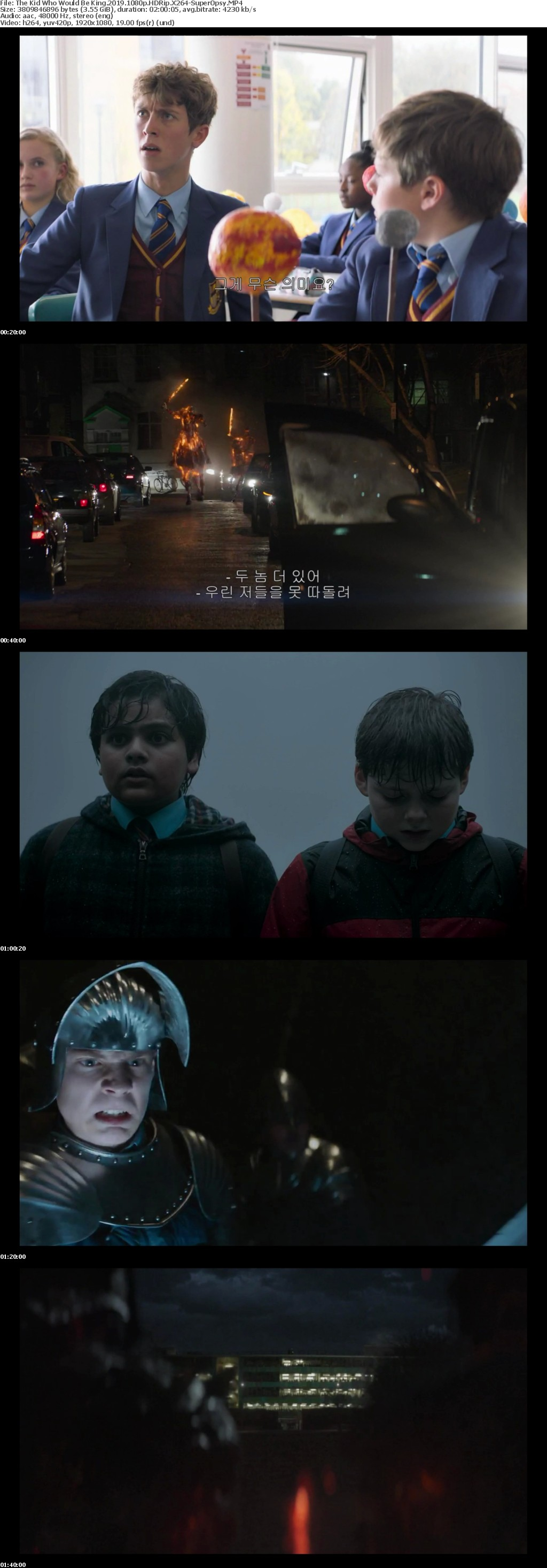 The Kid Who Would Be King 2019 1080p HDRip X264-SuperOpsy