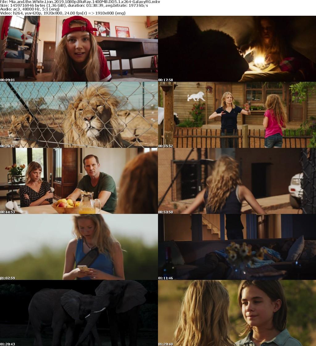 Mia and the White Lion (2019) 1080p BluRay 1400MB DD5.1 x264-GalaxyRG