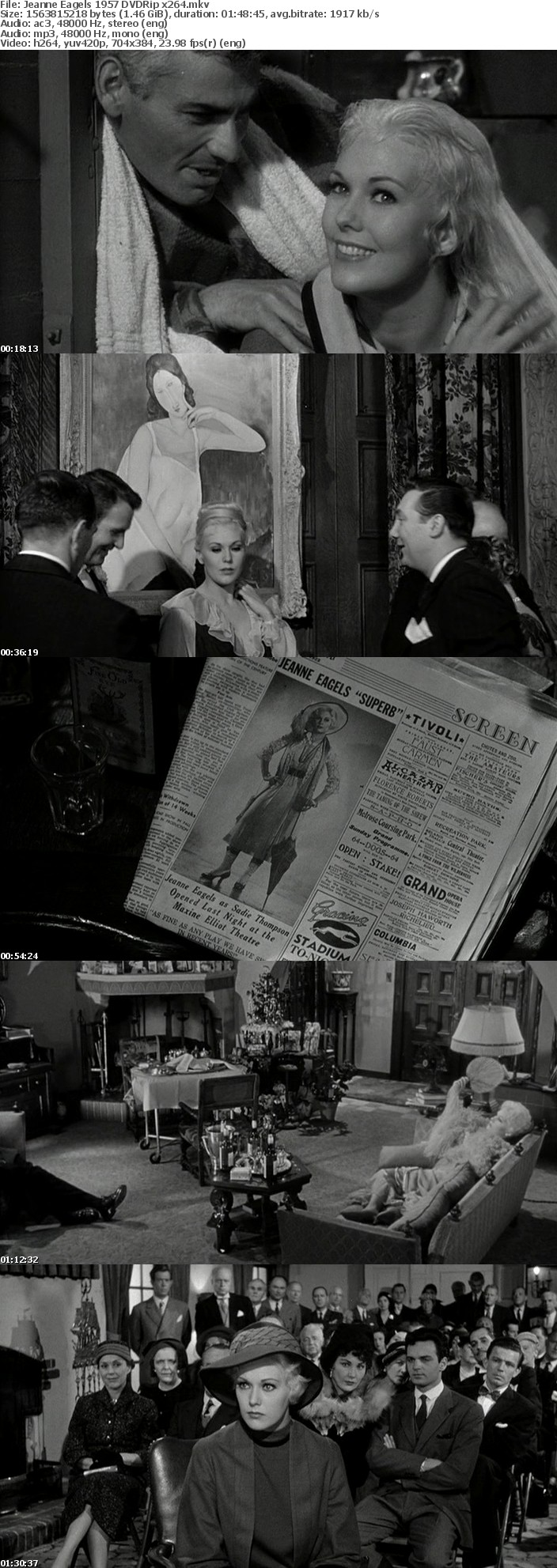 Jeanne Eagels 1957 DVDRip x264