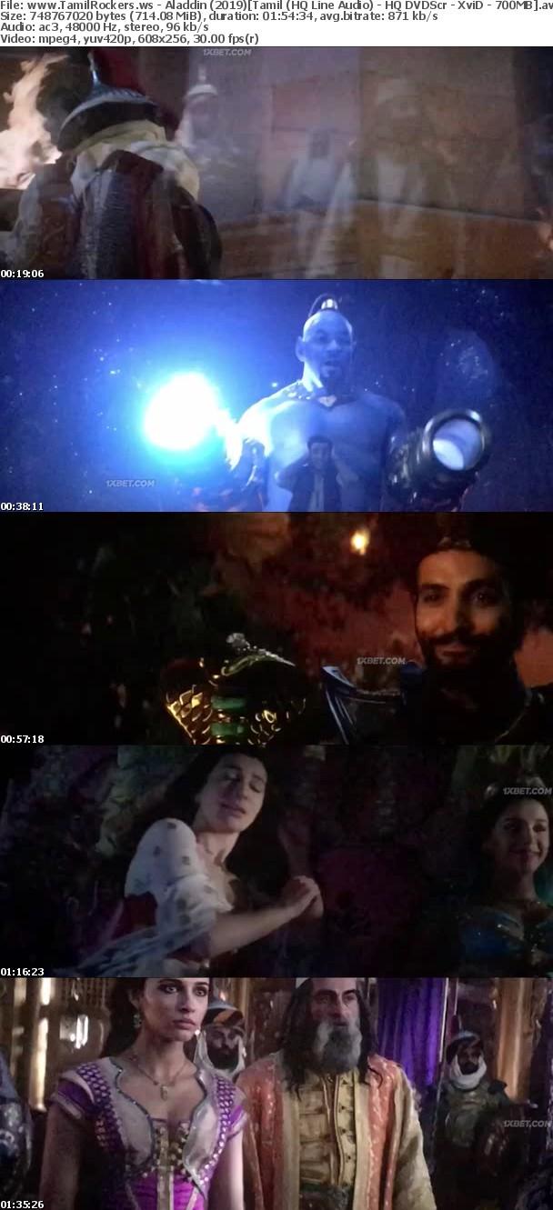 Aladdin 2019 Tamil (HQ Line Audio) - HQ DVDScr - XviD - 700MB