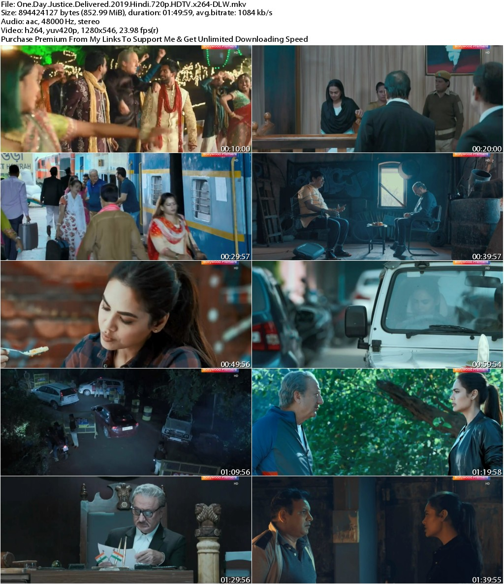 One Day Justice Delivered (2019) Hindi 720p HDTV x264-DLW