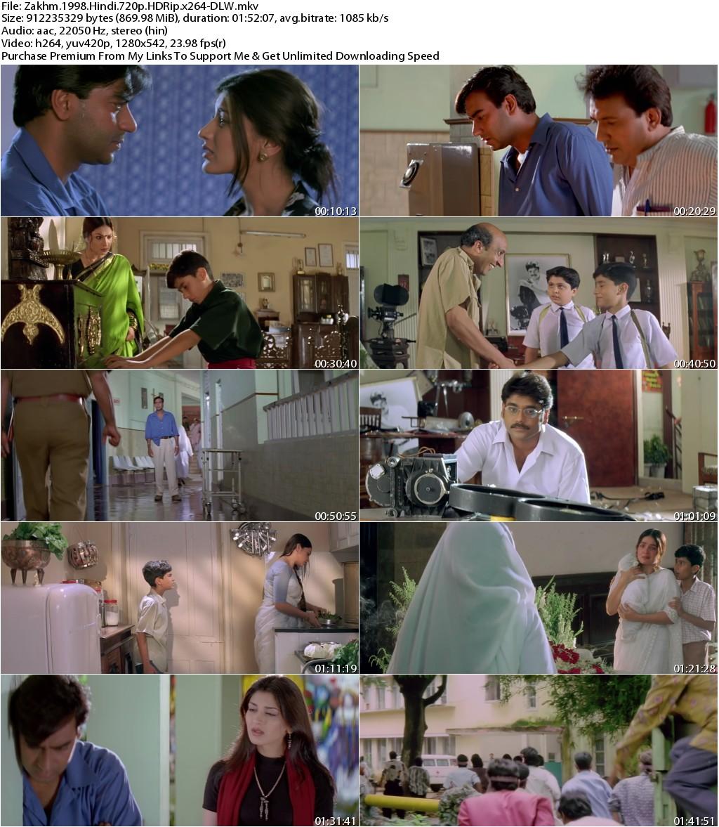 Zakhm (1998) Hindi 720p HDRip x264-DLW