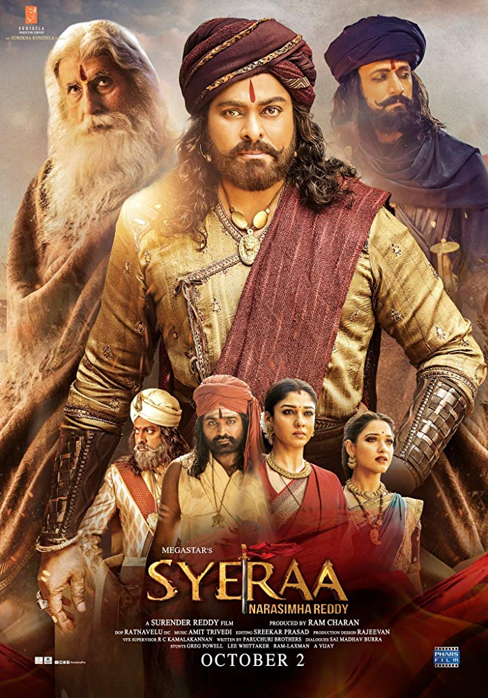 New Hindi Movei 2018 2019 Bolliwood: Sye Raa Narasimha Reddy 2019 Telugu HQ Pre-DVDRip X264 1