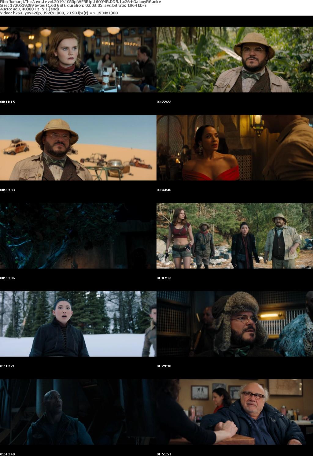 Jumanji The Next Level (2019) 1080p WEBRip 1600MB DD5.1 x264-GalaxyRG