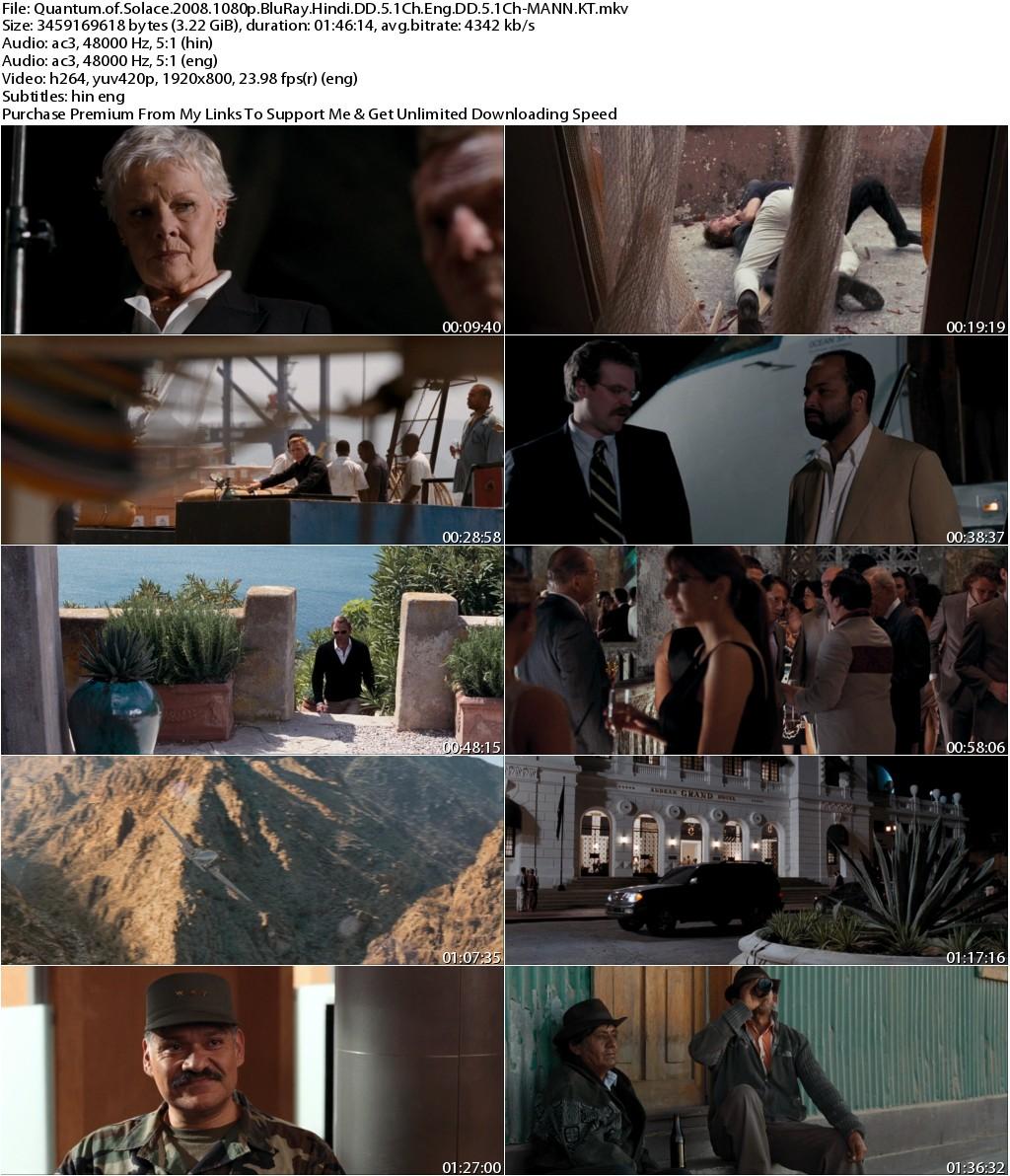 Quantum of Solace (2008) 1080p BluRay Hindi DD 5.1Ch Eng DD 5.1Ch-MANN.KT