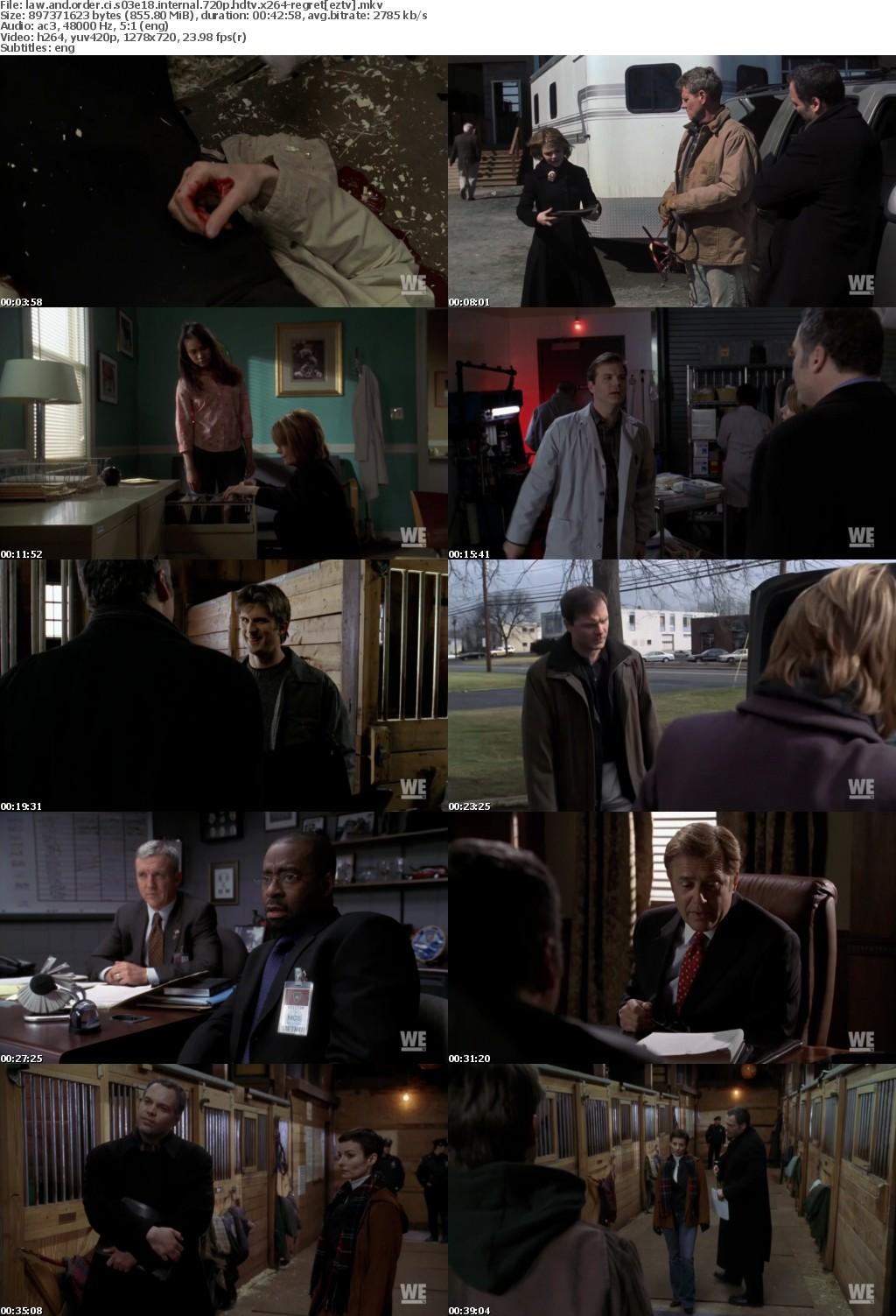 Law and Order CI S03E18 iNTERNAL 720p HDTV x264-REGRET