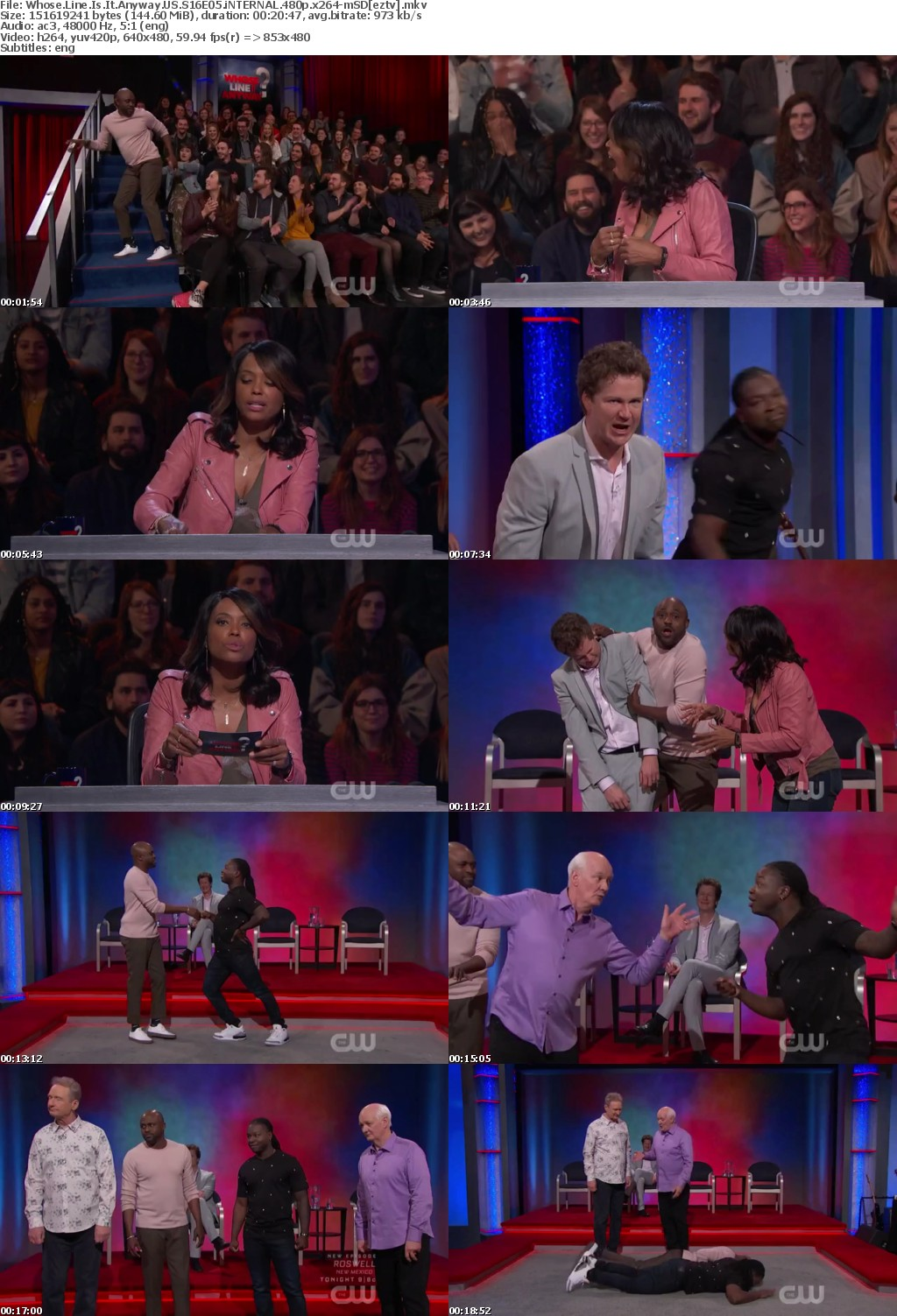 Whose Line Is It Anyway US S16E05 iNTERNAL 480p x264-mSD