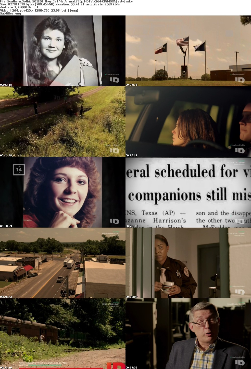 Southern Gothic S01E01 They Call Me Animal 720p HDTV x264-CRiMSON