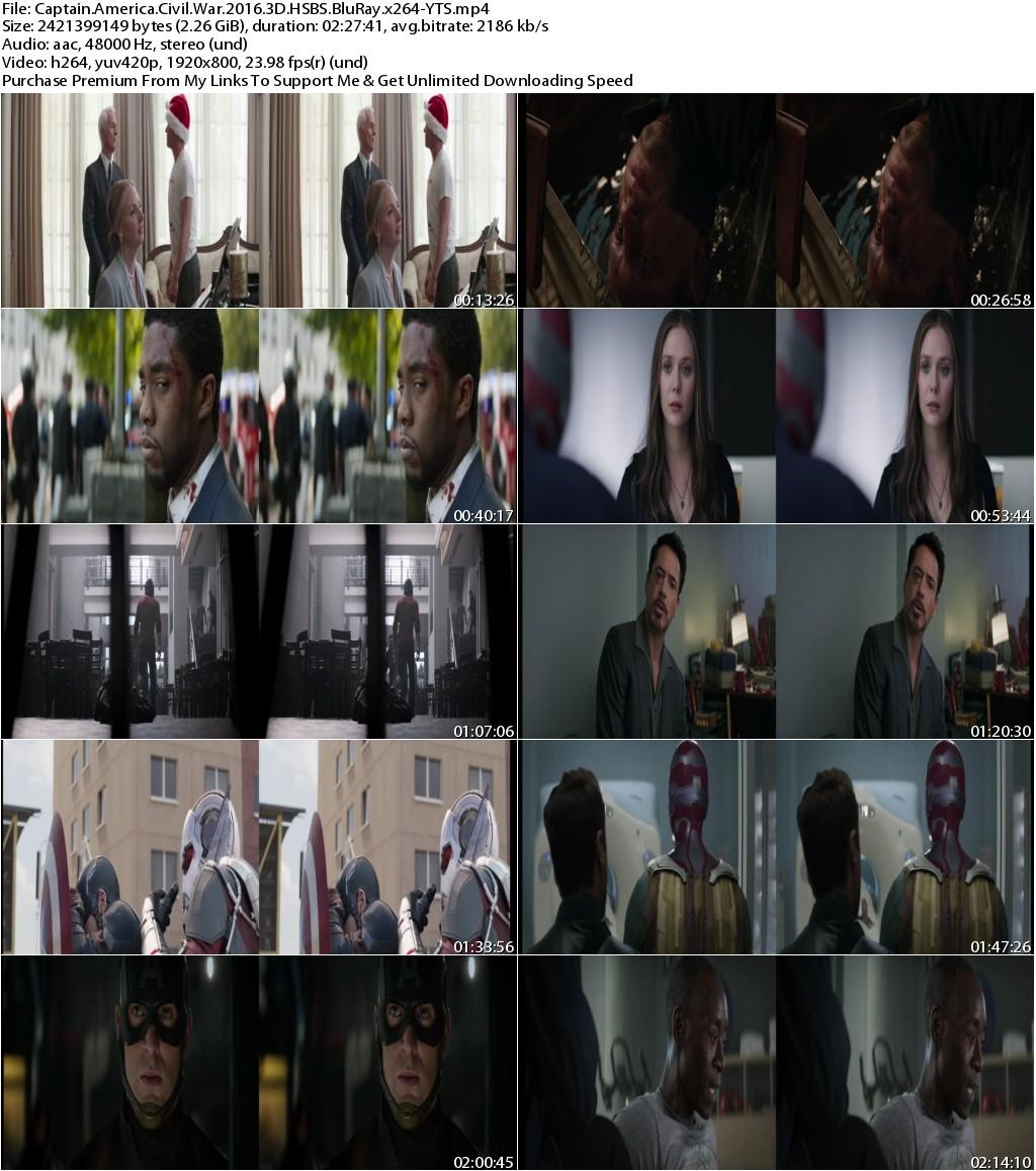 Captain America Civil War (2016) 3D HSBS 1080p BluRay x264-YTS