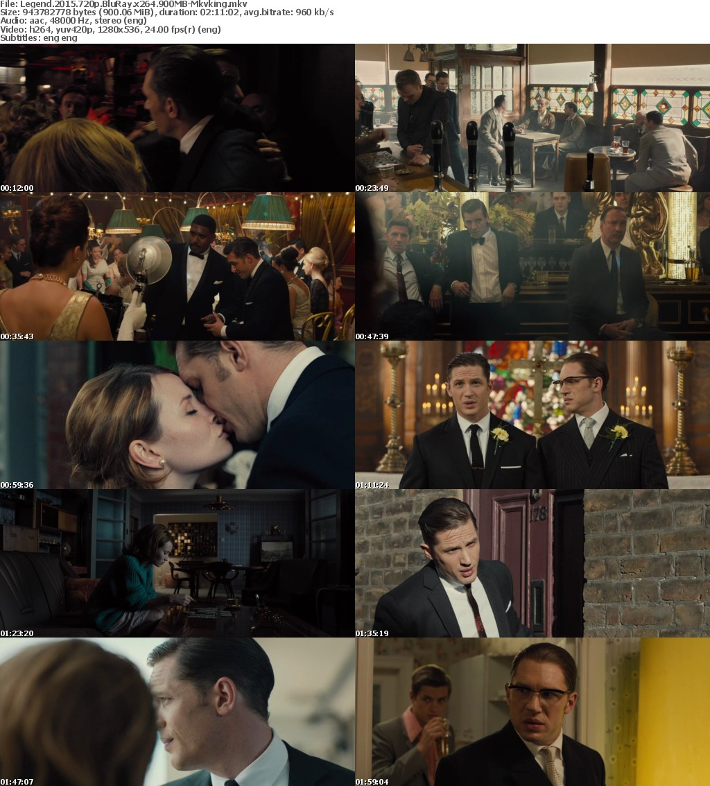 Legend (2015) 720p BluRay x264 900MB-Mkvking