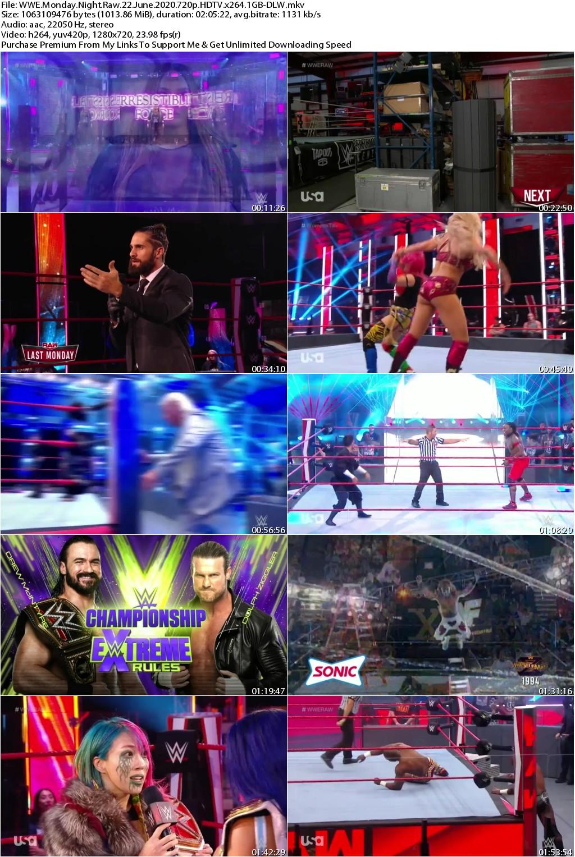 WWE Monday Night Raw 22 June 2020 720p HDTV x264 1GB-DLW