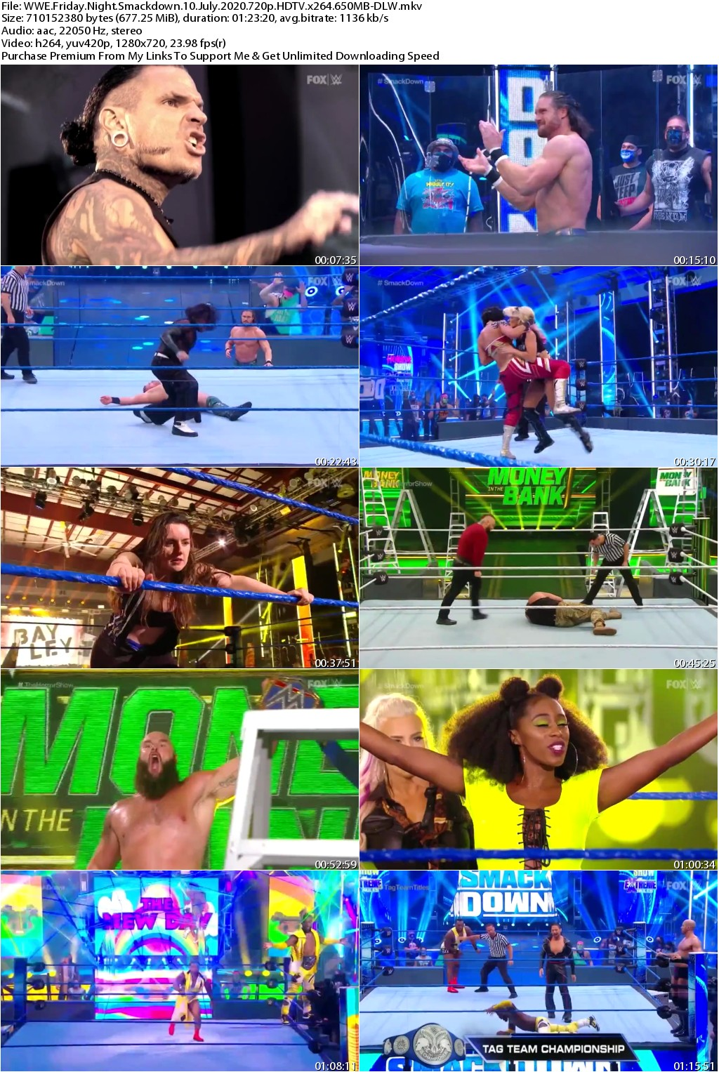 WWE Friday Night Smackdown 10 July 2020 720p HDTV x264 650MB-DLW