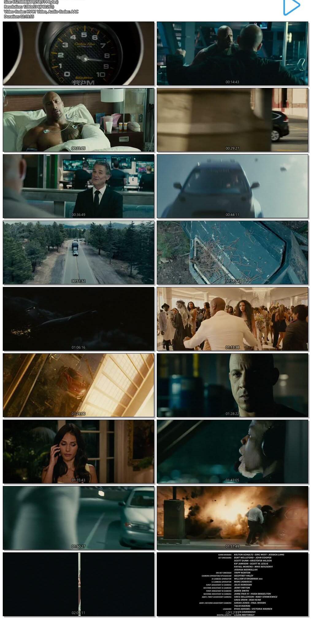 Furious Seven (2015) EXTENDED 720p BRRip x265 HEVC Dual Audio Eng Hindi ESubs-DLW